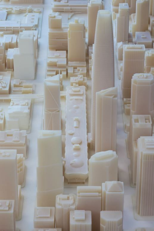 3D-Printed Architectural Model - Future Skyline of San Francisco - Autodesk - Scale 1:1250