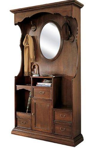 ... in legno massello colore noce arte povera  Entryway  Pinterest