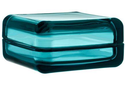 Iittala vitriini, merensininen 108x108mm. Käytettykin käy, kunhan ehjä :)