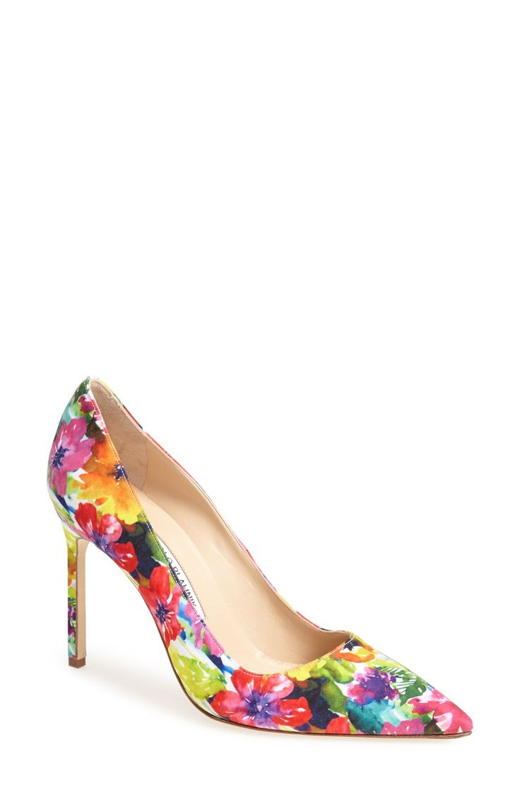 Putting these Manolo Blahnik floral pumps on the wish list.