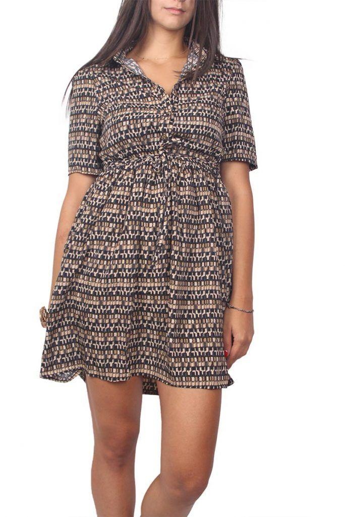 acfadfe6722 Migle + me σεμιζιέ μίνι φόρεμα με ζώνη - la-235 | Φόρεματα 2019 | Dresses,  Wrap Dress και Fashion
