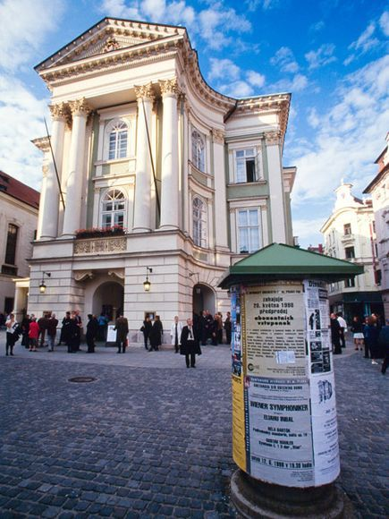 """Mozart mecca: """"The first opera venue in Prague, the 18th-century Estates Theater was a favorite of Wolfgang Amadeus Mozart."""""""