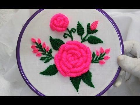 Hand Embroidery: Caston stitch variation - YouTube