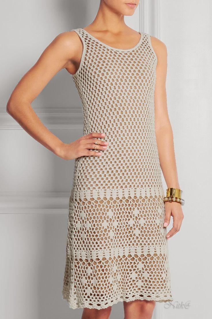 Crochetemoda: Michael Kors - Crochet Dress