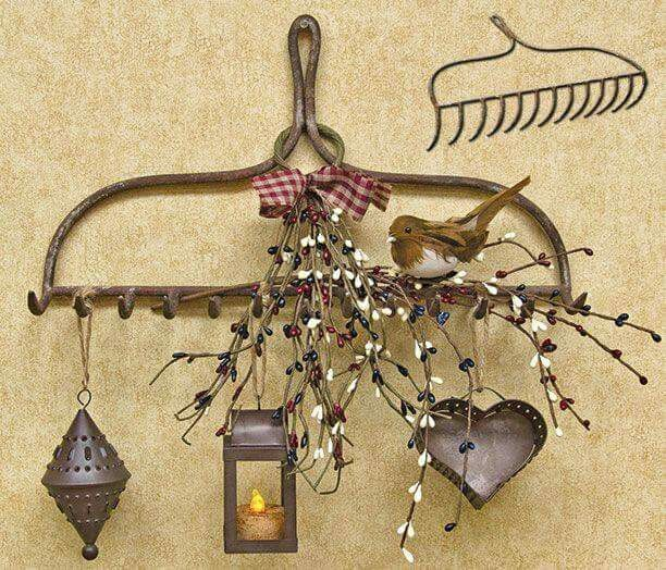 Old Rake Head Repurpose Craft Ideas Pinterest Reuse