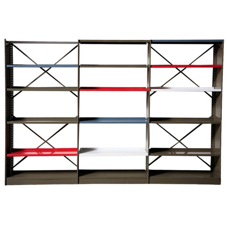 "Friso Kramer ""Stabilux"" Industrial Sheet Metal Bookshelf"