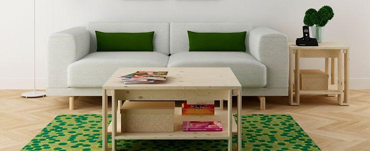 mesa de centro barata en madera maciza de muebles lufe el ikea vasco