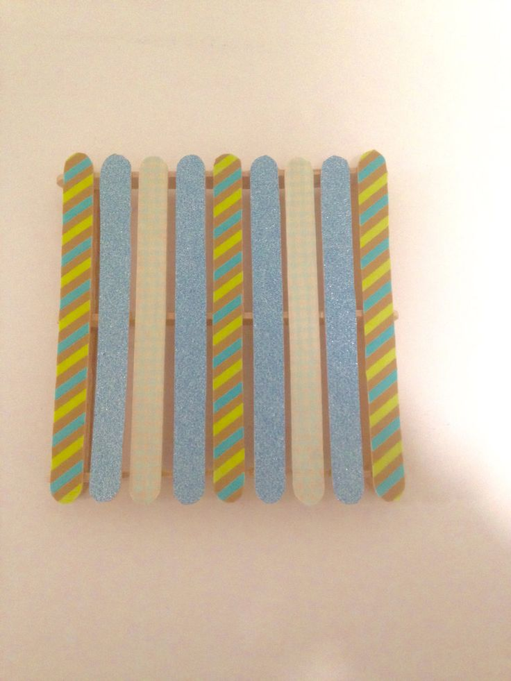 Pallet board coaster set Popsicle stick coaster set by ColorYourWorldStudio on Etsy