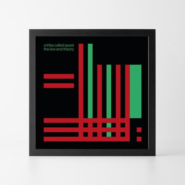 "A Tribe Called Quest : The Low End Theory – Geometric Records 12"" print"