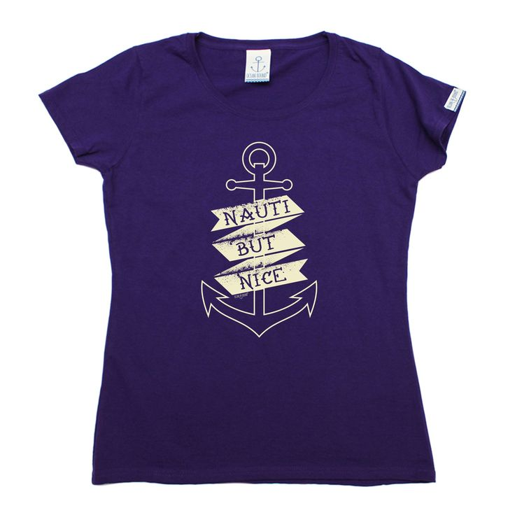 Ocean Bound Women's Nauti But Nice Anchor Design Sailing T-Shirt