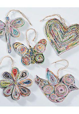 BNWT Namaste Recycled Paper Christmas Decorations   eBay