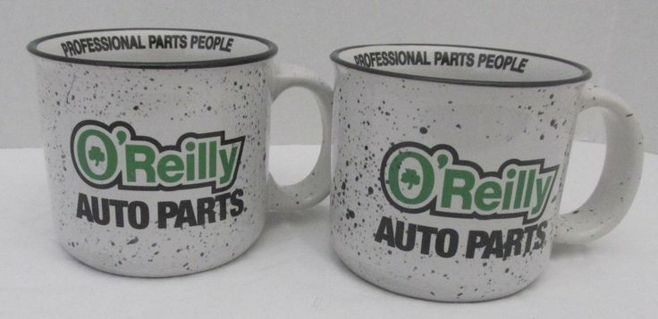 2 O'Reilly Auto Parts Proffessional Parts People Shamrock Irish COFFEE MUGS CUPS