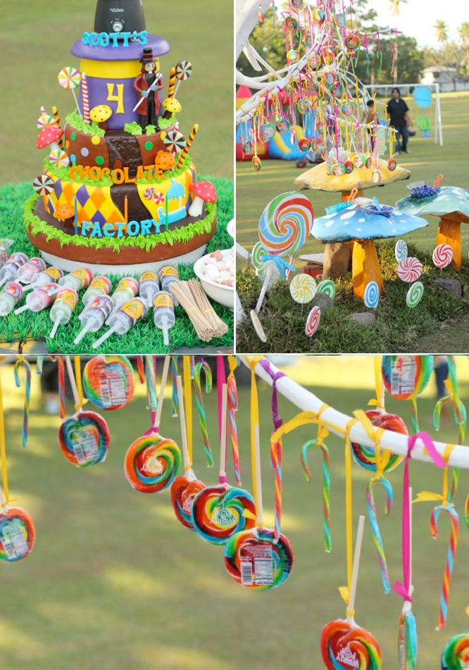 Incredible-Willy-Wonka-themed-birtdhay-party-FULL-of-ideas-Via-Karas-Party-Ideas-KarasPartyIdeas.com #willy #wonka #themed #birthday #party #ideas #idea #cake #supplies #decorations #games