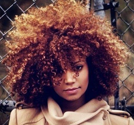 black women natural hair dyed brown