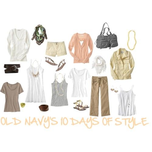 Old Navy does the Calypso St Barth style summer traveling wardrobe for 10 days+