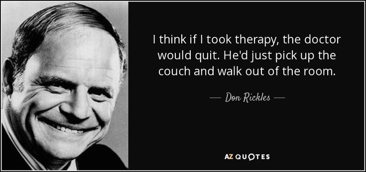 """Discover Don Rickles famous and rare quotes. Share Don Rickles quotes about people, fun, guy. """"I think if I took therapy, the doctor..."""""""