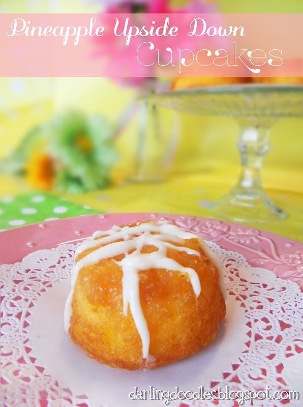 Pineapple Upside Down Cupcakes - Darling Doodles   Darling Doodles