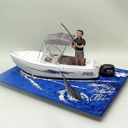 Fishing Man On A Boat Cake Boats / Ships Sea 3D Cakes ...