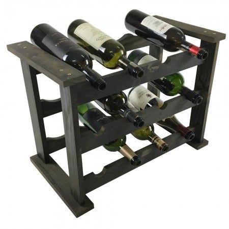 """Vai um vinhozinho aí?   Qualquer ambiente gourmet que se preze tem uma adega, certo?! A adega de mesa é perfeita para colocar sobre a bancada da cozinha, área gourmet ou mesmo dentro dos armários! Preserve seus vinhos na horizontal e tenha sempre vinhos """"elegantes"""" à mão! Capacidade para 12 garrafas. Venha dar uma espiadinha na nossa Loja Tadah Design! <3"""