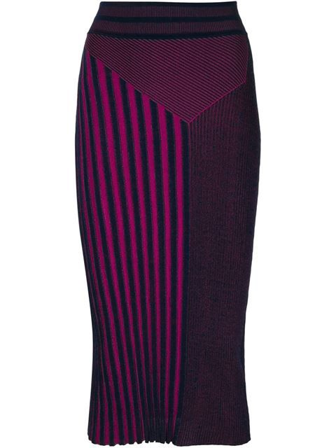Shop Ohne Titel striped knitted pencil skirt in Gretta Luxe from the world's best independent boutiques at farfetch.com. Shop 300 boutiques at one address.