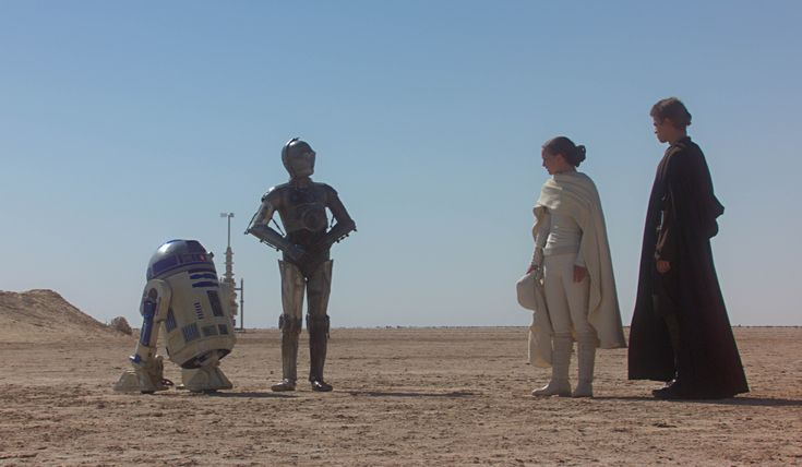 R2d2 And C3po In Movie Star Wars Droids Droid...