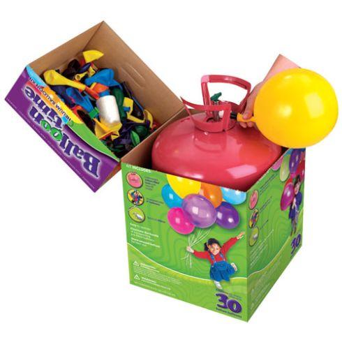 Botella helio desechable pequeÑa 30 globos