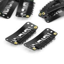 40pcs U Shape Steel Snap Clips For Feather Hair Ex…