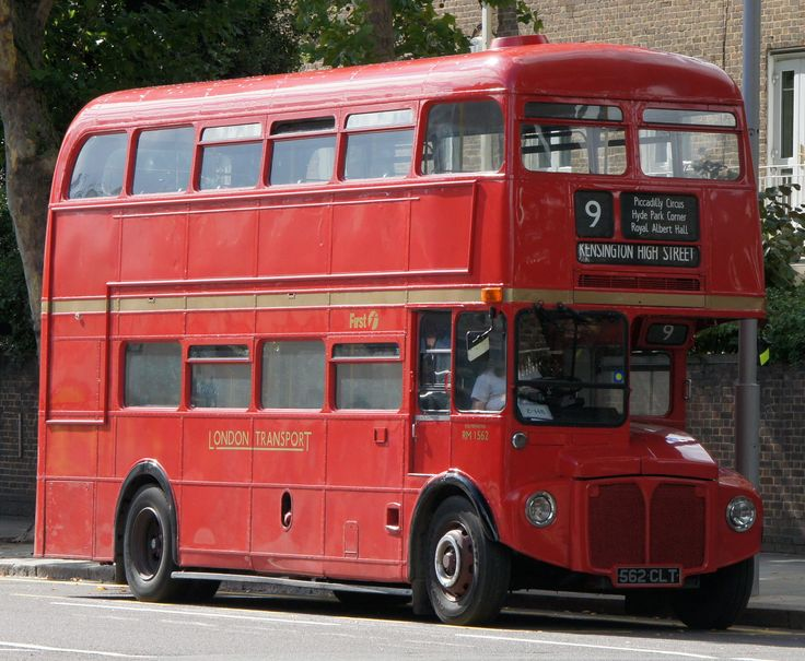 LONDON....... Kensington High Street Routemaster bus, route 9H,