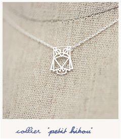 Petit hibou origami (silver)