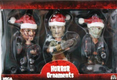 Amazon.com - Neca Horror Icons Figural Christmas Ornament 3-pack Freddy Krueger, Jason Voorhees and Leatherface (Chainsaw Massacre) with San...