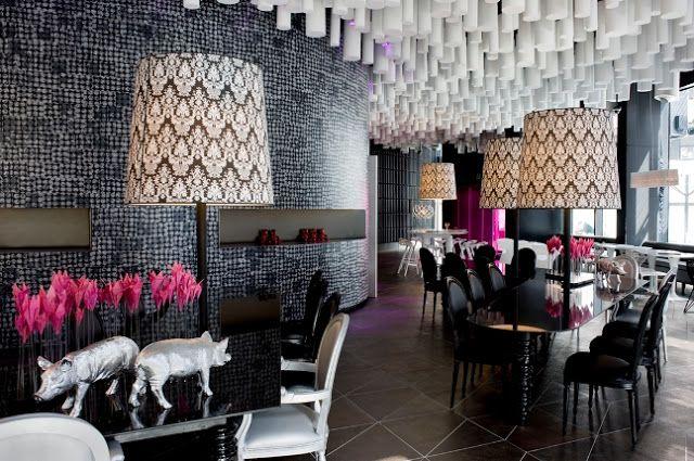 Espacios Interiores con Profusión de texturas Hotel Barceló Raval  Construido en el 2008 CMV Architects