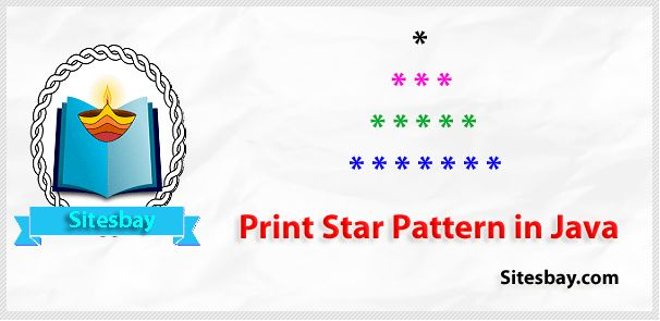 Print star pattern in java
