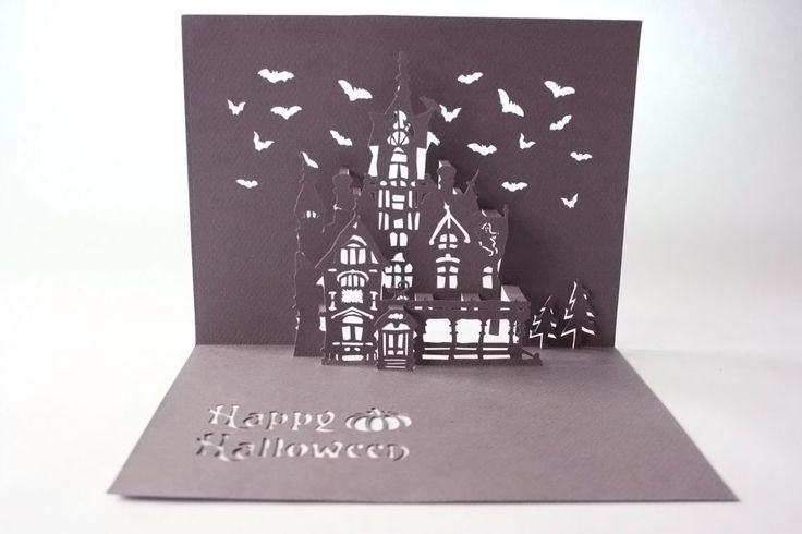 Haunted house pop up card. Pop Up Cards Pinterest