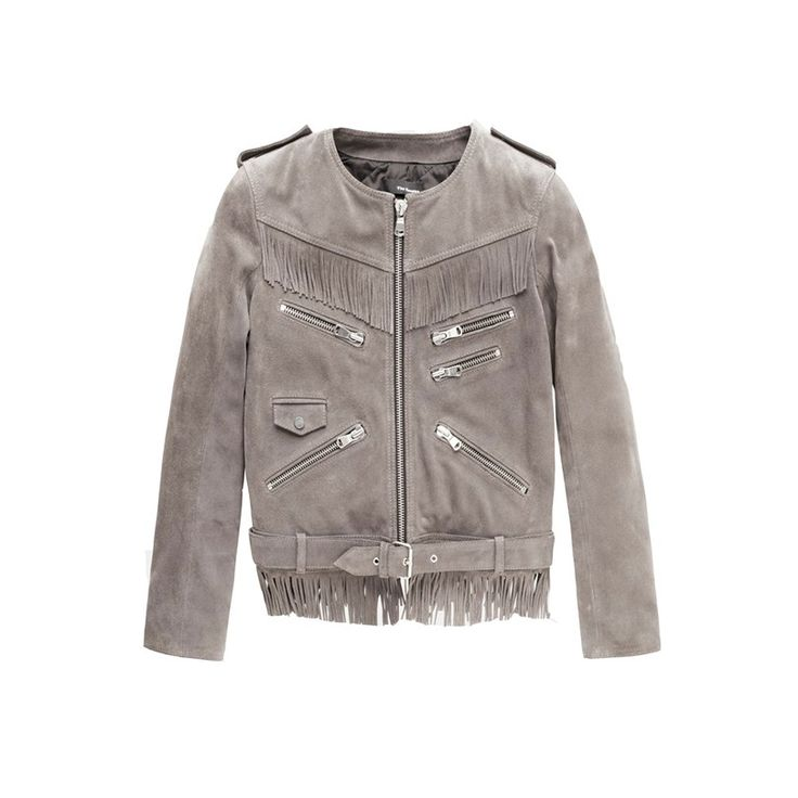 Suede Fringed Jacket, The Kooples