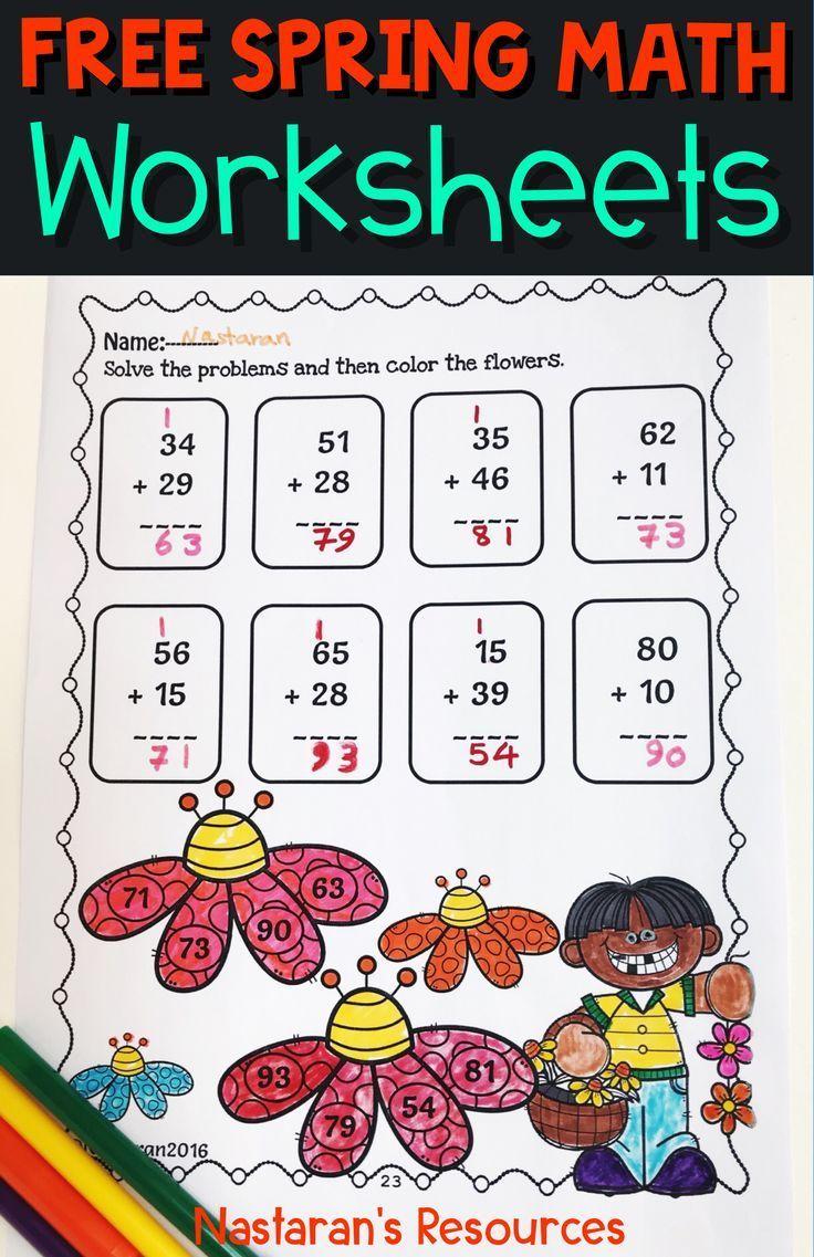Free Spring Math Worksheets Spring Math Worksheets Spring Math Math Worksheets