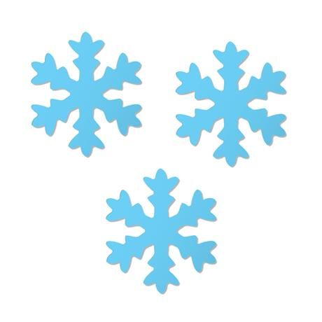 A2 - Micro Flocos de Neve Azul em EVA c/ 06 unidades: Festa Frozen