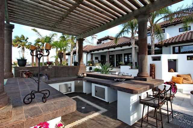 185 best images about mi casa outdoor living area on for Spanish style outdoor kitchen