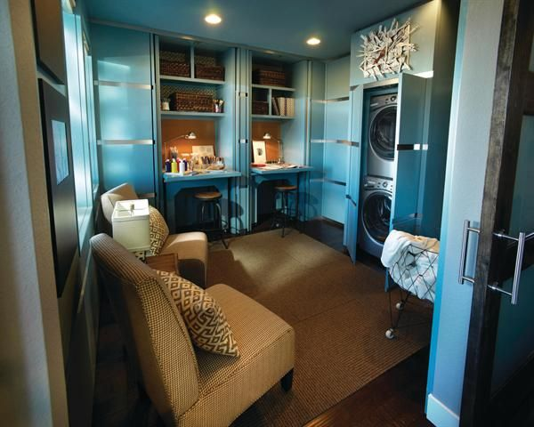 150 best dual purpose rooms images on pinterest for Utility room office