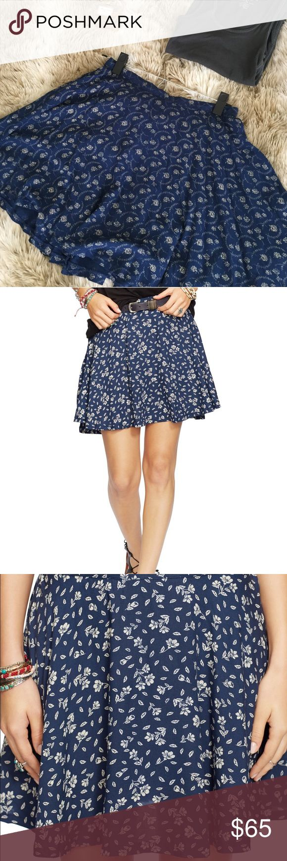 Denim & Supply Ralph Lauren Floral Print Skirt Brand new without tag, Demin & Supply Floral Print A-Line Skirt, Demin & Supply is a Ralph Lauren line. Very Gorgeous skirt and it has never been worn other than to try it on. Demin & Supply Skirts Mini