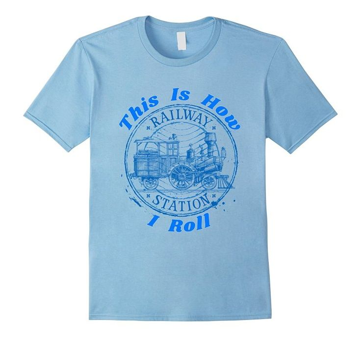 This Is How I Roll Model Train Enthusiasts Funny Shirt - AHazardDesigns: Graphics, T-Shirts & More #tshirt #shirt #tshirts #shirts #training #train #followtrain #trainhard #trains #trainstation #model #modeltrain #kidsmodel