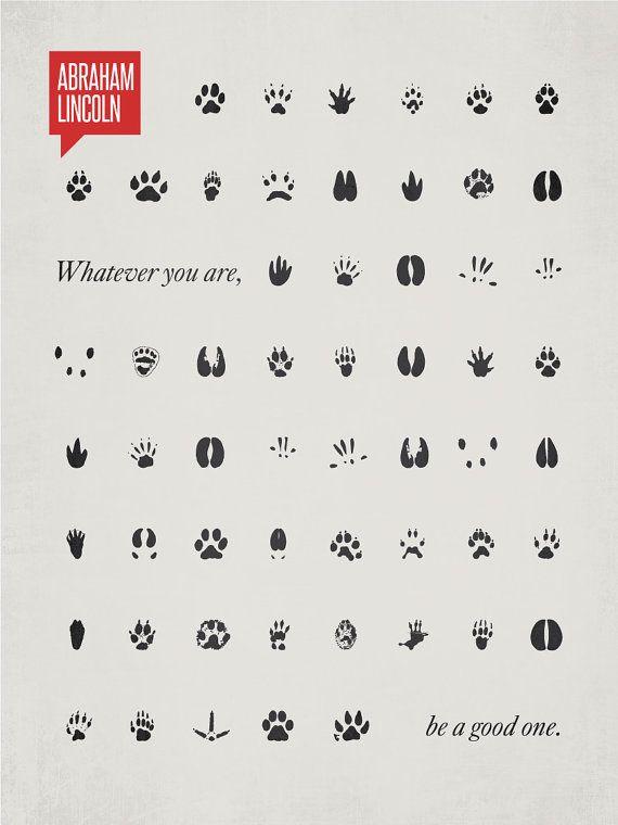 Minimalist Quotation Print ABRAHAM LINCOLN by DesignDifferent