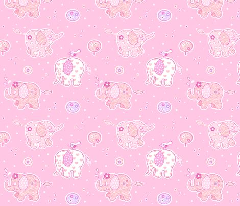 Elephant Party Parade fabric by nossisel on Spoonflower - custom fabric