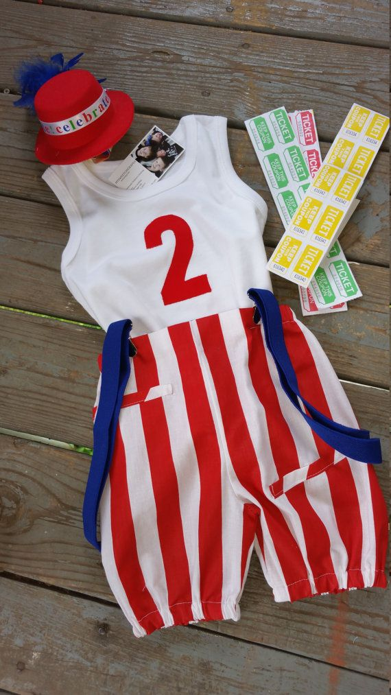 Boys Birthday Boys Carnival Outfit Circus by MYSWEETCHICKAPEA