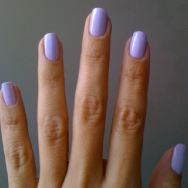 Lavender nails :)  Bride Maids and Flower Girls