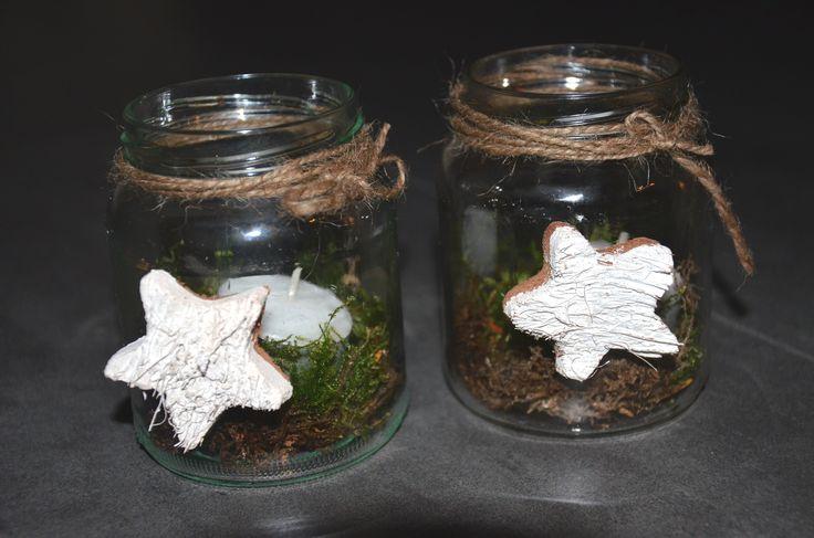 PHOTOPHORE / PAINTED JAR / LICHTJE IN GLAZEN POTJE - Nog meer mogelijkheden met glazen potjes.