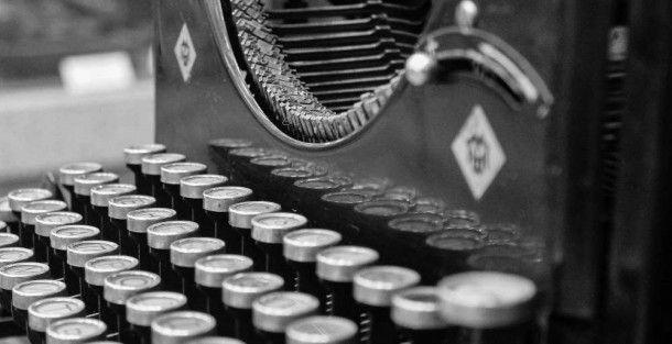 Schreibmaschine - Newsletter Anmeldung
