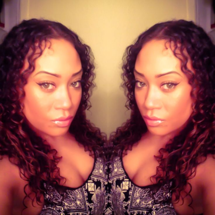 My natural curly hair.  Fresh Face - Farrah Franklin