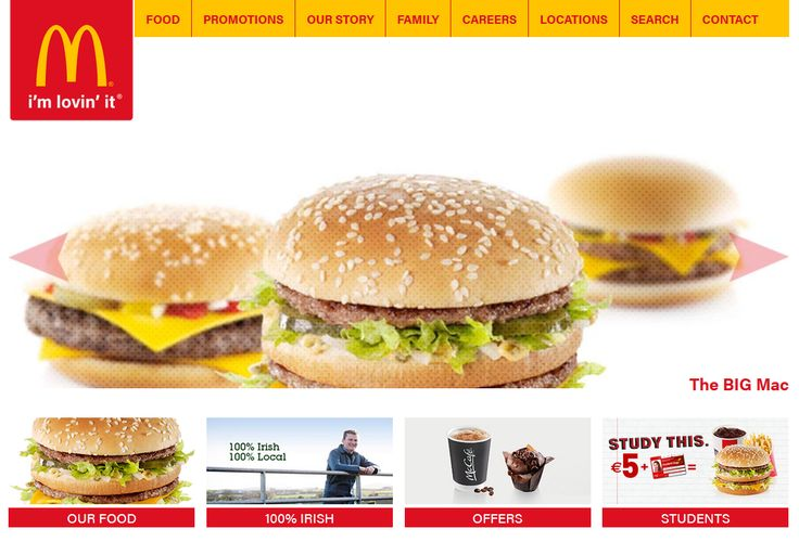 College Project: McDonalds.ie rebuild using a #Bootstrap starter theme..