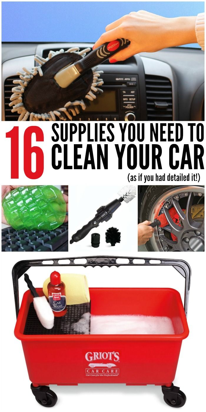 16 Supplies You Need to Clean Your Car (as if you had detailed it) | www.onecrazyhouse.com