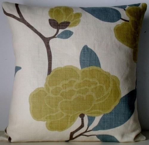 Romo Fabric Rubani Dijon Mustard Stone Linen Cushion